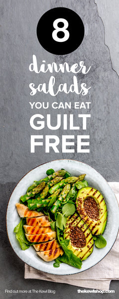 pinterest, infographic, 8 dinner salads you can eat guilt free