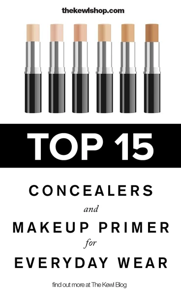 Pinterest banner - Top 15 concealers and makeup primers