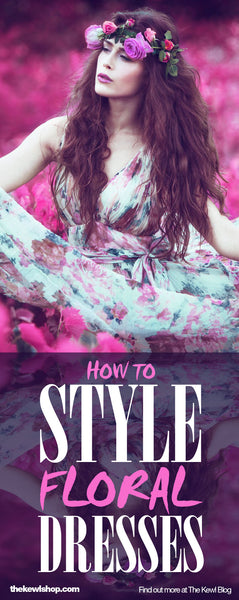 infographic, pinterest, How To Style Floral Dresses