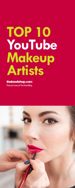 Pinterest banner - Top 10 youtube makeup artists