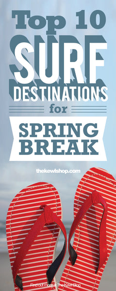 Top 10 Surf Destinations for Spring Break, Pinterest, Infographic
