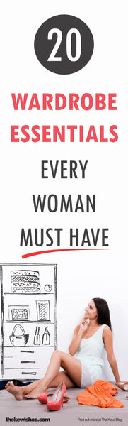 20 Wardrobe Essentials Every Woman Must Have, pinterest, infographic