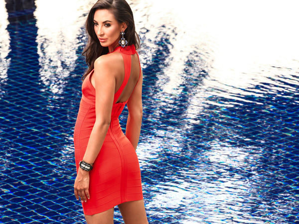 red valentines bandage dress