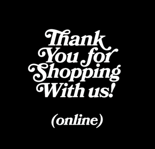 Thank you for shopping online