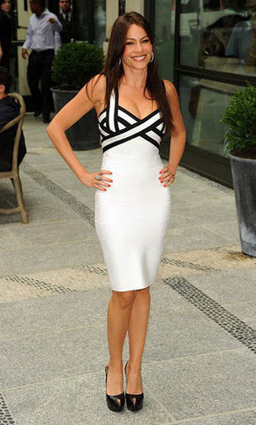 sophia vergara white bandage dress