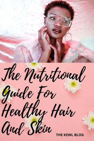 Pinterest Banner - Food guide to healthy hair and skin