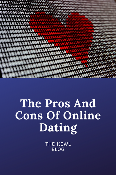Pinterest banner - online dating pros and cons
