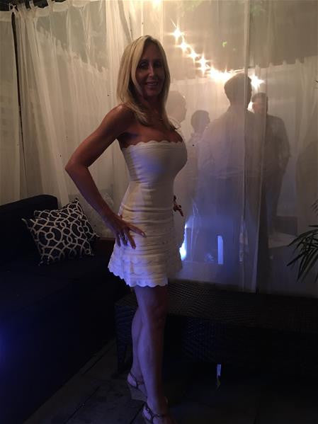 White Fit And Flare Cocktail Dress - selfie