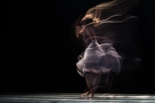 Ballerina dancing with passion