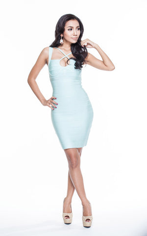 baby blue bandage dress