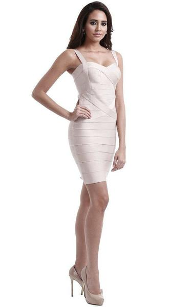 sweetheart bodycon dress - full length on model