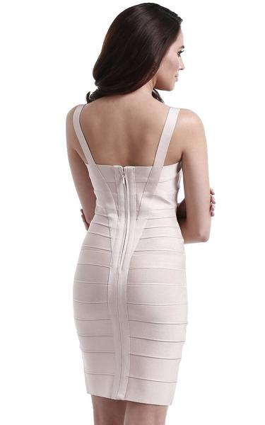sweetheart bodycon dress - back view on model