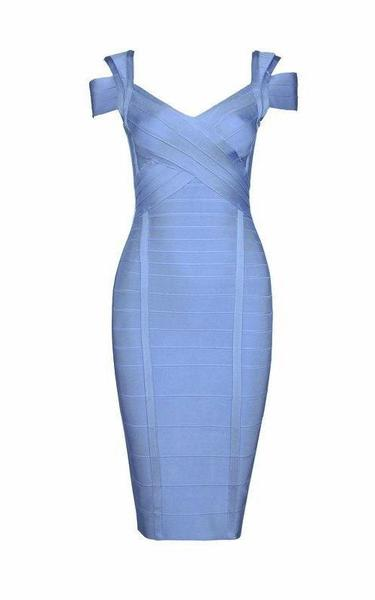 baby blue perfect date bandage dress