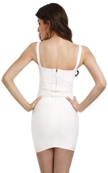 sexy white bandage dress - back view on model