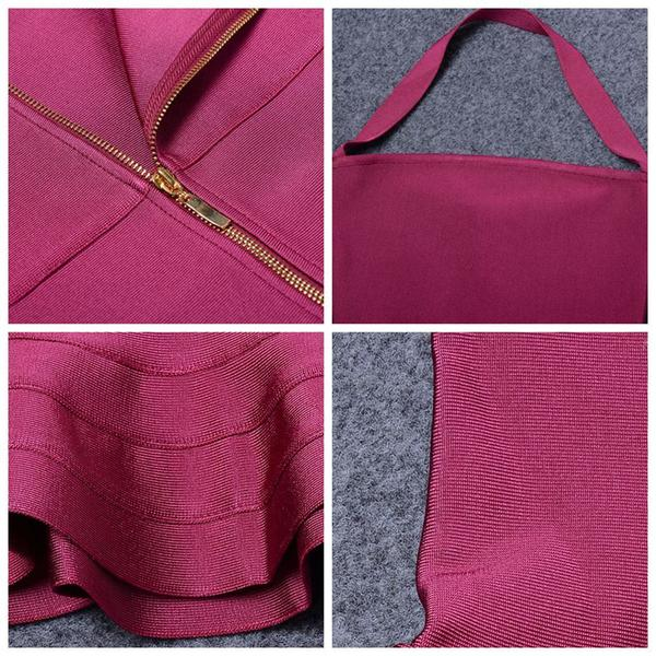 close up of burgundy midi dress
