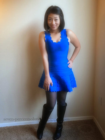 blue bandage dress review