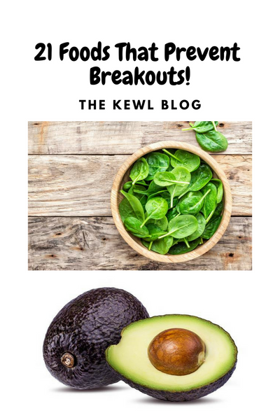 Pinterest Infographic - Foods that prevent breakouts
