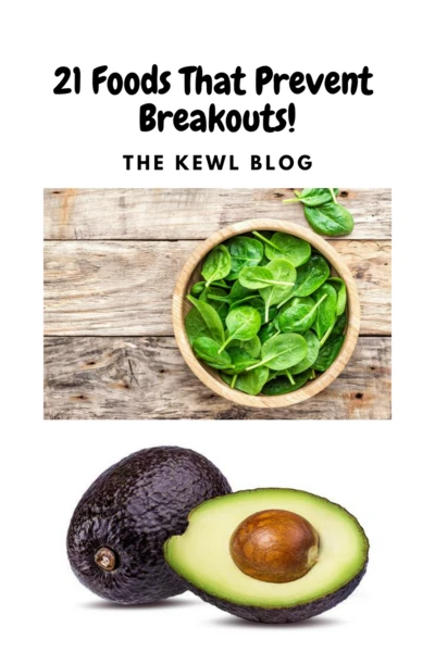 Pinterest banner - 21 foods that prevent brakouts