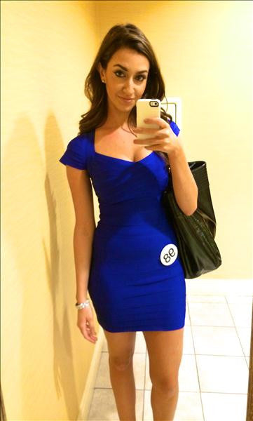 blue cap sleeve dress bodycon
