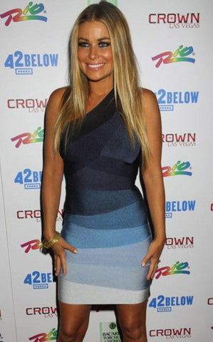carmen electra ombre bandage dress blue