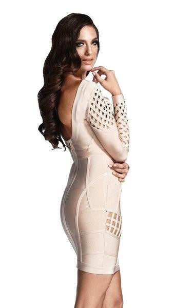 cocoa nude cage dress back