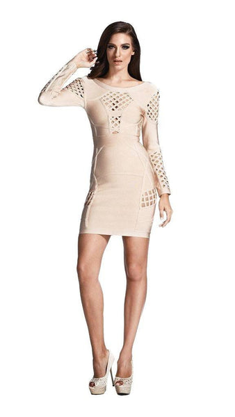 cocoa nude cage dress