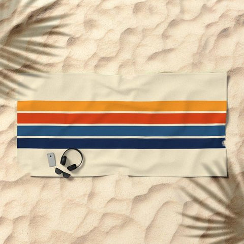 cool retro beach towel