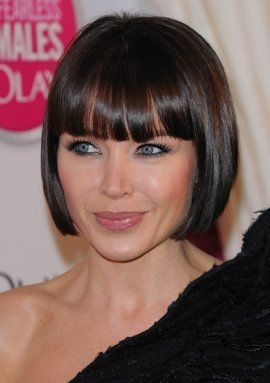 danni minogue showing off her bob hairstyle