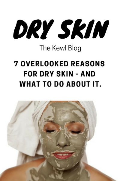 Pinterest infographic - how to deal with dry skin