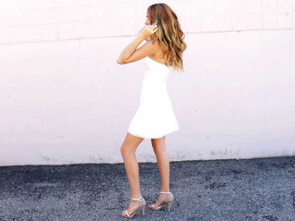 White Fit And Flare Cocktail Dress