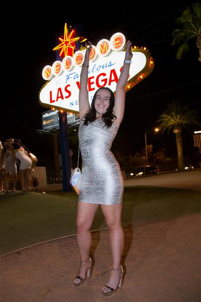 Las Vegas silver bandage dress