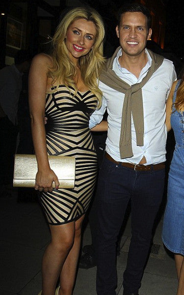 gemma merna strapless cocktail dress