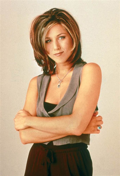 Jennifer aniston in her iconic Rachel haircut