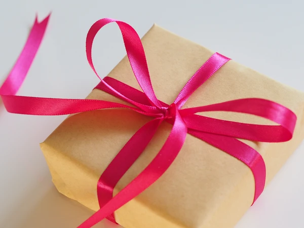 Gift wrapped up in a pink ribbon