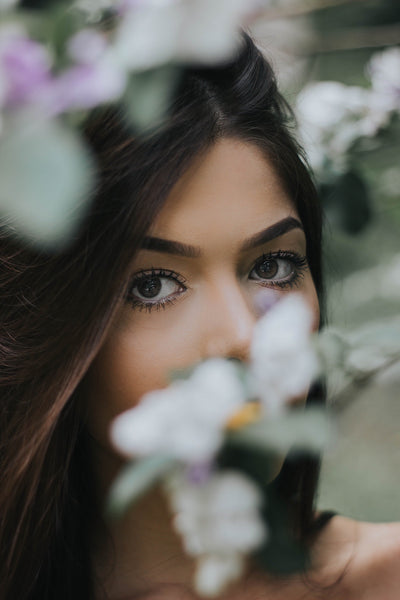 Close up of a girls eyes