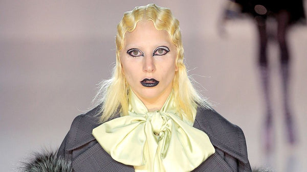 lady gaga at marc jacobs fashion show