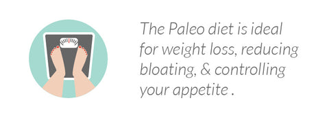 The Paleo diet is ideal for weight loss, reducing bloating & controlling your apetite