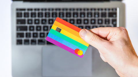 Credit card in front of PC