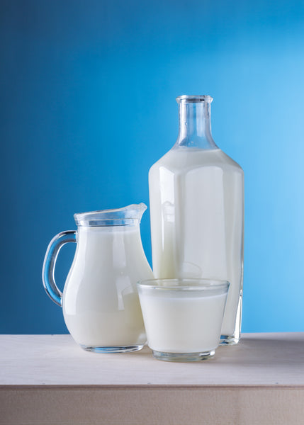 Containers of milk