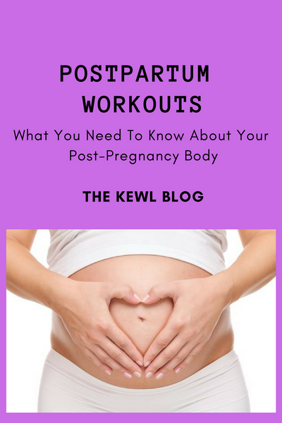 Pinterest image for postpartum workout