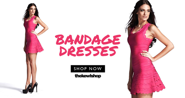 red sweety bandage dress banner