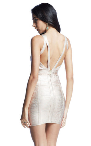 rose gold bandage dress