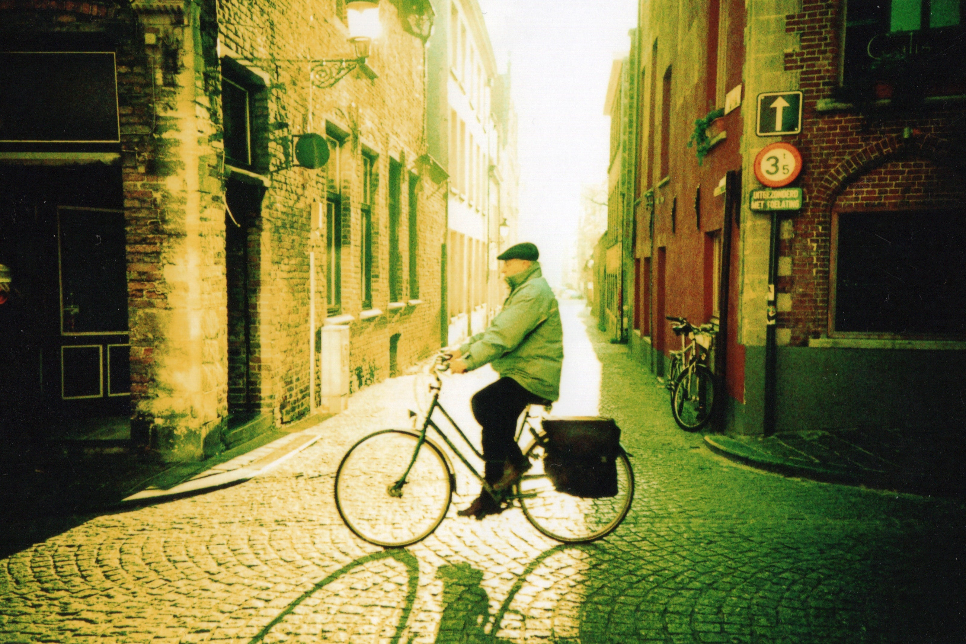 elderly man on a bicycle