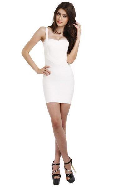 sexy white bandage dress - on model