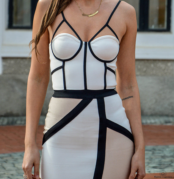 sophisticated bandage dress