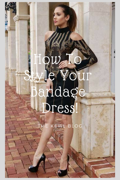 Pinterest Infographic - how to style bandage dress