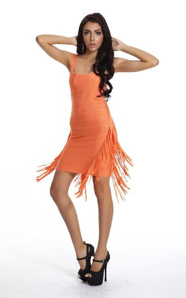 tassel dress - on model