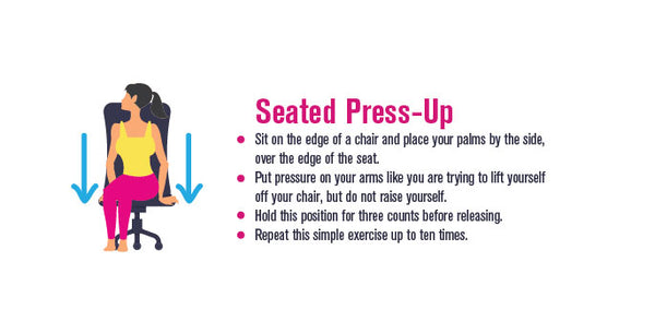 Infographic, pinterest, Seated Press-up