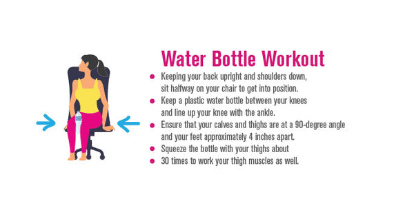 Pinterest, infographic, water bottle workout