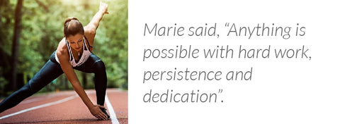 Marie Purvis is a Nike Master Trainer, One of the faces behind the Nike+ Training Club app